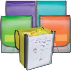 "C-Line 7-pocket Vertical Backpack File - Letter - 8 1/2"" x 11"" Sheet Size - 400 Sheet Capacity - 7 Front, Internal Pocket(s) - Poly - Assorted - 1 Each"