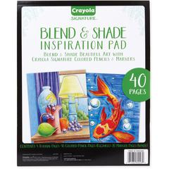 Crayola Blend & Shade Inspiration Pad - 40 Pages - 1Each