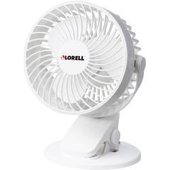 "Lorell USB Personal Fan - 127 mm Diameter - 2 Speed - Breeze Mode, Quiet, Adjustable Tilt Head - 7.7"" Height x 5.8"" Width - White"