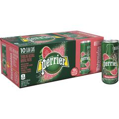 Perrier Slim Can Mineral Water Beverage - Ready-to-Drink - Watermelon Flavor - 8.45 fl oz (250 mL) - Can - 30 / Carton