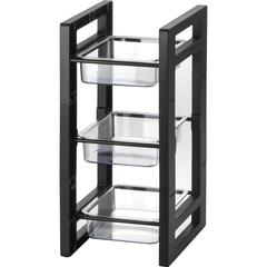 "BreakCentral BreakCentral II Condiment Tower - 17"" Height x 7.8"" Width - Black - 1Each"