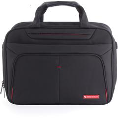 """Swiss Mobility Carrying Case (Briefcase) for 15.6"""" Notebook - Black - Bump Resistant Interior, Scratch Resistant Interior - Handle - 17"""" Height x 2.5"""" Width x 12"""" Depth"""