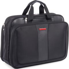 """Swiss Mobility Carrying Case (Briefcase) for 17.3"""" Notebook - Black - Bump Resistant Interior, Scratch Resistant Interior - Handle - 18"""" Height x 8"""" Width x 13"""" Depth"""