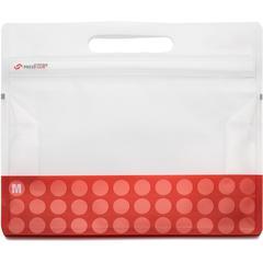 "VELCRO® Brand PressLok 12"" Plastic Storage Bags - 10"" Width x 12"" Length x 0.10"" Depth - Red - Plastic - 4/Pack - Multipurpose"