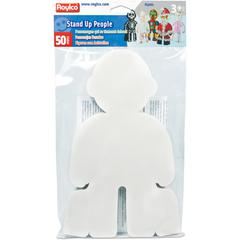 "Roylco Stand-Up People Cut-outs - 11.5"" x 7.3"" x 0"" - 50 / Pack - White"