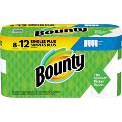 Bounty Select-A-Size Paper Towels - 2 Ply - White - Perforated, Durable, Absorbent - For Kitchen - 8 / Carton