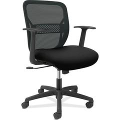 "HON Gateway Fixed Arms Task Chair - Black Seat - Black Back - Black Frame - 25.8"" Width x 25.3"" Depth x 38.3"" Height"