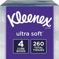 """Kleenex Ultra Soft Tissues - 3 Ply - 8.20"""" x 8.40"""" - White - Soft, Strong - For Home - 65 Quantity Per Box - 65 / Each"""