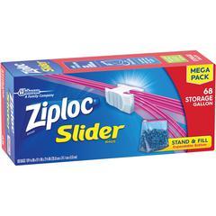 Ziploc® Brand Slider Gallon Storage Bags - 1 gal - Clear - 68/Box - Food