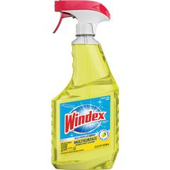 Windex® MultiSurface Disinfectant Spray - Ready-To-Use Spray - 0.18 gal (23 fl oz) - Fresh Citrus ScentBottle - 1 Each - Yellow
