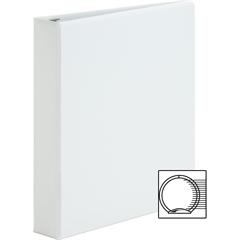 "Sparco Premium Round Ring View Binders - 1 1/2"" Binder Capacity - Letter - 8 1/2"" x 11"" Sheet Size - 3 x Round Ring Fastener(s) - 2 Internal Pocket(s) - Polypropylene - White - 1 Each"