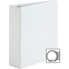 "Sparco Premium Round Ring View Binders - 3"" Binder Capacity - Letter - 8 1/2"" x 11"" Sheet Size - 3 x Round Ring Fastener(s) - 2 Internal Pocket(s) - Polypropylene - White - 1 Each"