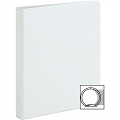 "Sparco Premium Round Ring View Binders - 1"" Binder Capacity - Letter - 8 1/2"" x 11"" Sheet Size - 3 x Round Ring Fastener(s) - 2 Internal Pocket(s) - Polypropylene - White - 1 Each"