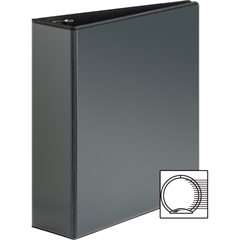 "Sparco Premium Round Ring View Binders - 3"" Binder Capacity - Letter - 8 1/2"" x 11"" Sheet Size - 3 x Round Ring Fastener(s) - 2 Internal Pocket(s) - Polypropylene - Black - 1 Each"