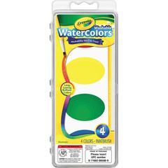 Crayola Washable Nontoxic 4 Watercolor Set - 4.50 oz - 16 / Set - Assorted