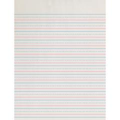 "Pacon Zaner-Bloser Broken Midline Ruled Paper - 500 Sheets - Printed - 30 lb Basis Weight - Letter 8.50"" x 11"" - White Paper - 500 / Pack"