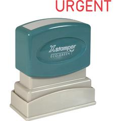 "Xstamper URGENT Title Stamp - Message Stamp - ""URGENT"" - 0.50"" Impression Width x 1.63"" Impression Length - 100000 Impression(s) - Red - Recycled - 1 Each"