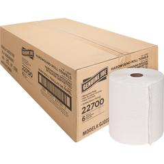 "Genuine Joe Hardwound Roll Paper Towels - 7.90"" x 800 ft - White - Absorbent, Chlorine-free - For Restroom - 6 / Carton"
