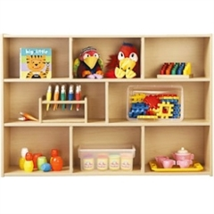 "young Time Three Shelf Storage - 3 Compartment(s) - 32.5"" Height x 48"" Width x 12"" Depth - Baltic - 1Each"