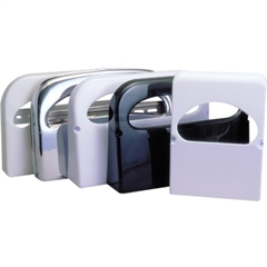 RMC Plastic Toilet Cover Dispenser - Half-fold - 2 x Toilet Seat Cover Half-fold - Plastic - Smoke Gray - Transparent, Durable