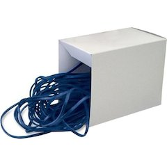 """Alliance Rubber 07826 Can Bandz - 7"""" Heavy Duty Latex Rubber Bands - For Securing Liners in Garbage Cans - Black - Approx. 50 Bands in Box"""