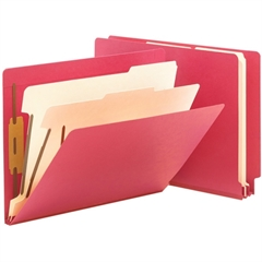 "Smead End Tab Colored Classification Folders - Letter - 8 1/2"" x 11"" Sheet Size - 2"" Expansion - 2 Fastener(s) - 2"" Fastener Capacity for Folder - 2 Divider(s) - 18 pt. Folder Thickness - Pressboard -"
