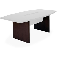 """Mayline Conference Table Base - Rectangle Top - Boat Base - 48"""" Table Top Length x 10 ft Table Top Width x 2"""" Table Top Thickness - 29.50"""" Height - Assembly Required - Veneer"""