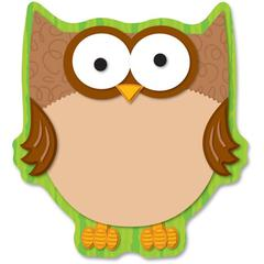 "Carson-Dellosa Full-color Owl Notepads - 50 Sheets - 5 3/4"" x 6 1/4"" - Multicolor Paper - Die-cut - 50 / Pack"