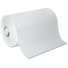 """SofPull Hardwound Roll Paper Towels - 1 Ply - 9"""" x 500 ft - 5.50"""" Roll Diameter - White - Paper - Absorbent, Soft, Unscented, Nonperforated, Embossed - For Washroom - 6 / Carton"""
