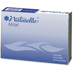Impact Products Naturelle Maxi Pads - Individually Wrapped, Anti-leak - 250 / Carton - White