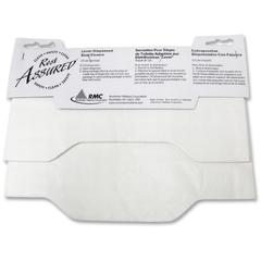 RMC Lever Dispns Toilet Seat Covers - Quarter-fold - 125 / Pack - Paper - White