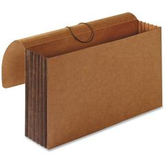 """Business Source 5-1/4"""" Expanding Extra-wide Wallets - Legal - 8 1/2"""" x 14"""" Sheet Size - 5 1/4"""" Expansion - Brown - Recycled - 10 / Box"""