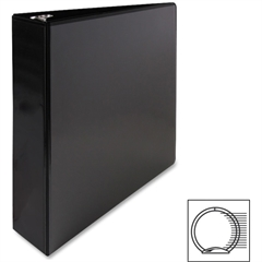 "Premium Round Ring View Binder - 2"" Binder Capacity - Letter - 8 1/2"" x 11"" Sheet Size - 3 x Round Ring Fastener(s) - 2 Internal Pocket(s) - Polypropylene - Black - 1 Each"