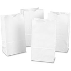 """Rainbow Bag - 6"""" Width x 11"""" Length - 6"""" Gusset - White - Kraft Paper - 100/Pack - Multipurpose"""
