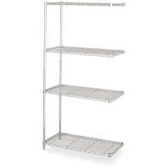"Safco Add-On Unit - 36"" x 18"" - 4 x Shelf(ves) - 1250 lb Load Capacity - Gray - Powder Coated"