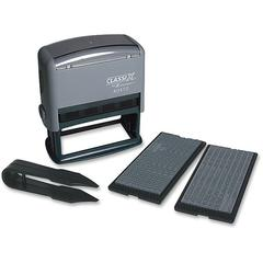 "Xstamper Self-Inking Message Stamp Kit - Custom Message Stamp - 0.19"" Impression Width x 0.13"" Impression Length - Black - 1 Each"