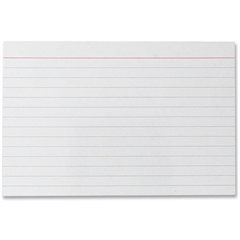 "Sparco Printable Index Card - 4"" x 6"" - 75 lb Basis Weight - 10% Recycled Content - 100 / Pack - White"