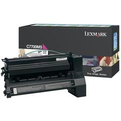 Lexmark Magenta Return Program Toner Cartridge - Laser - 6000 Pages - 1 Each