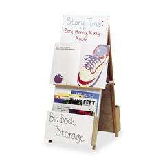 """Balt Big Book Easel - 23"""" (1.9 ft) Width x 58.5"""" (4.9 ft) Height - Oak Surface - Rectangle - 1 Each"""