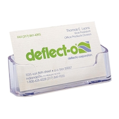 Deflect-o Desktop Business Card Holders - Plastic - 2 / Pack - Clear