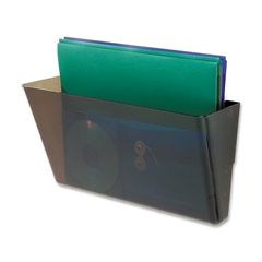 "Deflect-o Stackable Legal Wall Pocket - 1 Compartment(s) - 7"" Height x 16.3"" Width x 4"" Depth - Wall Mountable - Smoke - 1Each"