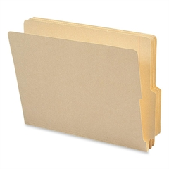 "End Tab Manila Folders with Shelf-Master® Reinforced Tab - Letter - 8 1/2"" x 11"" Sheet Size - 3/4"" Expansion - 1/3 Tab Cut - Bottom Tab Location - 11 pt. Folder Thickness - Manila - Recycled"