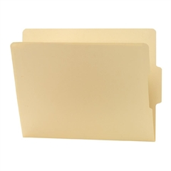 "24186 Manila End Tab File Folders with Reinforced Tab - Letter - 8.50"" x 11"" Sheet Size - 0.75"" Expansion - 2/5 Tab Cut - Bottom Tab Location - 11 pt. Folder Thickness - Manila - Manila - Recycl"
