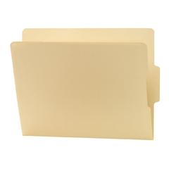 "Smead 24186 Manila End Tab File Folders with Reinforced Tab - Letter - 8.50"" x 11"" Sheet Size - 0.75"" Expansion - 2/5 Tab Cut - Bottom Tab Location - 11 pt. Folder Thickness - Manila - Manila - Recycl"