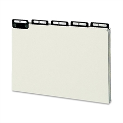 "Smead Pressboard Guides, Alphabetic Indexed Sets - 25 - Tab(s)Printed A - Z - 5 Tab(s)/Set - 8.50"" Divider Width x 14"" Divider Length - Legal - Gray Pressboard Divider Metal Tab - 25 / Set"
