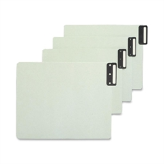 "Smead 100% Recycled Extra Wide End Tab Pressboard Guides, Vertical Metal Tab Style - Blank - 12.75"" Divider Width x 9.50"" Divider Length - Gray, Green Pressboard Divider Metal Tab - 50 / Box"