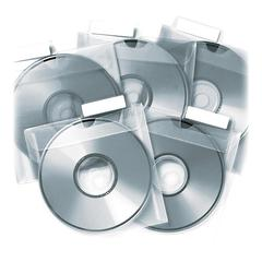 Tabbies CD Saver Protective Sleeves - Clear - Polypropylene