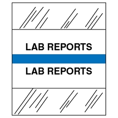 Tabbies Medical Chart Index Divider Tab - Printed Lab Reports - 7 Hole Punched - Blue - 100 / Pack
