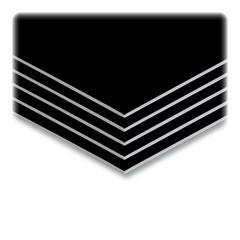 """Elmer's Sturdy Foam Board - 30"""" Height x 20"""" Width - Black Foam Board Surface - 10 / Carton"""