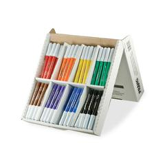 Dixon Washable Classpack Markers - Conical Point Style - Blue, Black, Green, Orange, Purple, Yellow, Red, Brown - 96 / Box